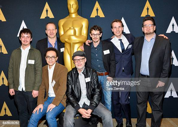 Aske Bang Kim Magnusson Selim Azzazi Juanjo Gimenez Giacun Caduff Timo von Gunten and Kristof Deak attend the 87th Annual Academy Awards Oscar week...