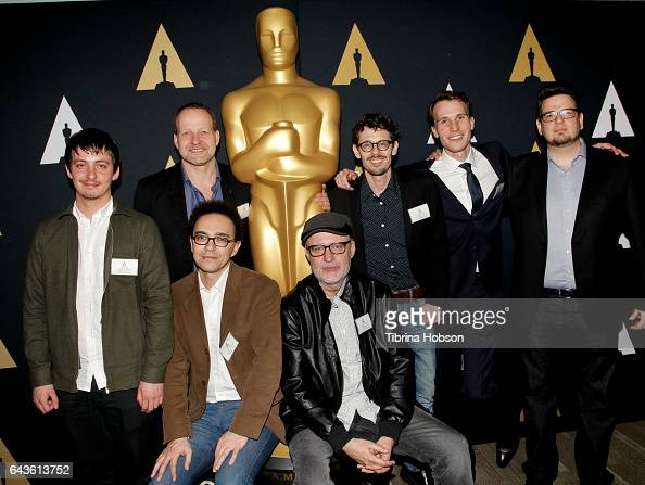 Aske Bang Kim Magnusson Selim Azzazi Juanjo Gimenez Giacun Caduff Timo von Gunten and Kristof Deak attend the 89th Annual Academy Awards Oscar week...