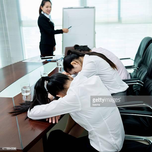 Asleep at the presentation