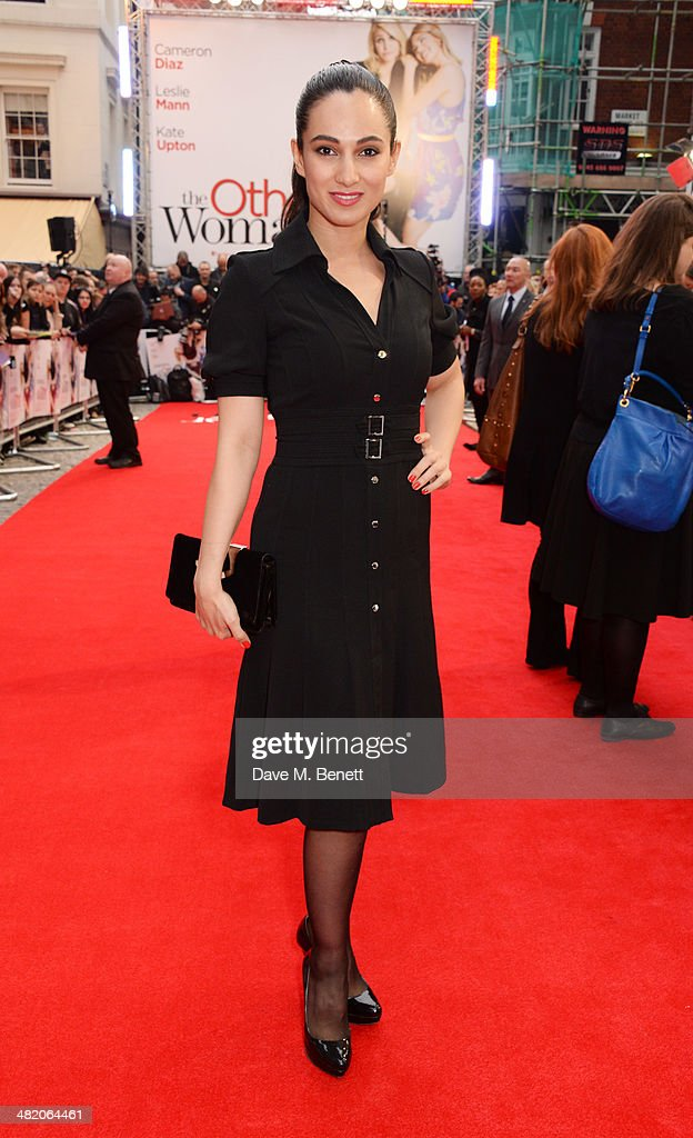 Asli Bayram attends the UK Gala Premiere of 'The Other Woman' at The Curzon Mayfair on April 2, 2014 in London, England.