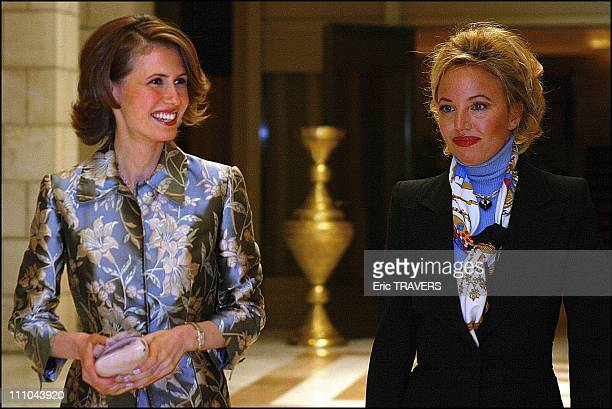 Asma Al Assad and Camilla of Bourbon in Damas Syria on March 22 2004
