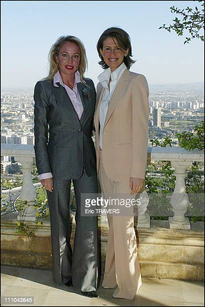 Asma Al Assad and Duchess Camilla in Damas Syria on March 22 2004