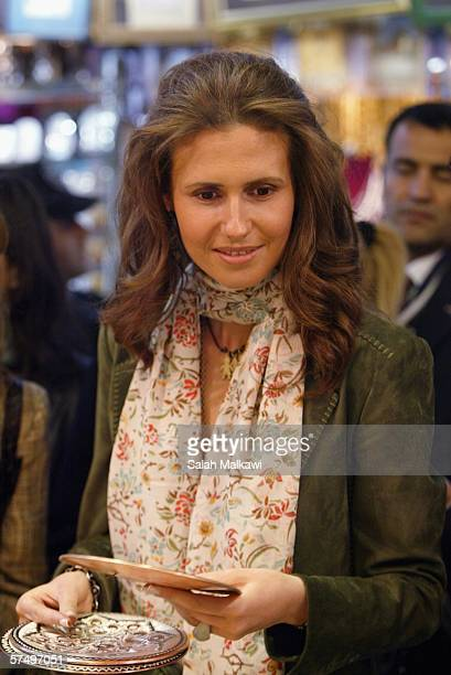 Asma alAssad wife of Syrian President Bashar alAssad arrives to attend the World Business Women Summit in Istanbul Turkey April 26 2006