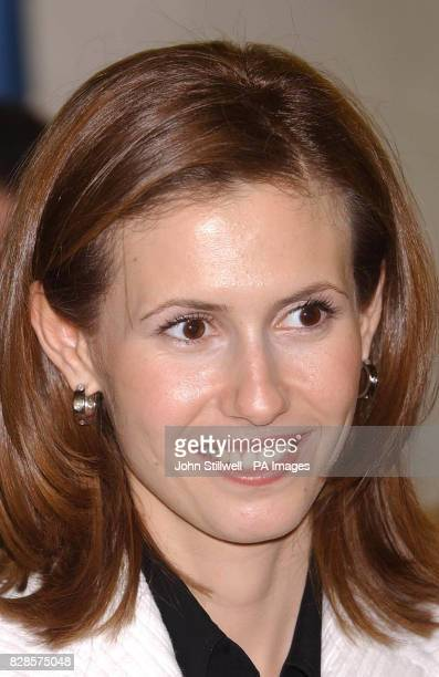 Asma Assad the Britishborn wife of Syrian president Bashar Assad at a Prince's Trust project in Camden north London where disadvantaged young people...