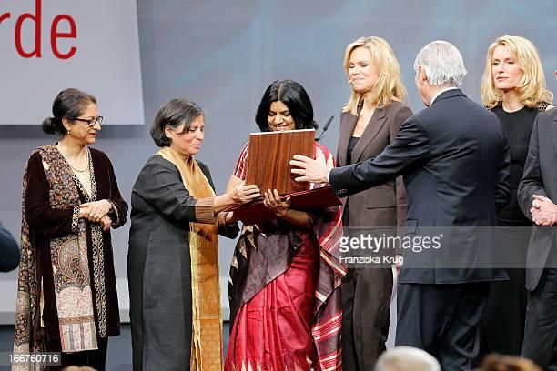 Asma Jahangir Suneeta Dhar Kalpana Viswanath Nina Ruge Roland Berger and Maria Furtwaengler attend the 'Roland Berger Human Dignity Award' ceremony...