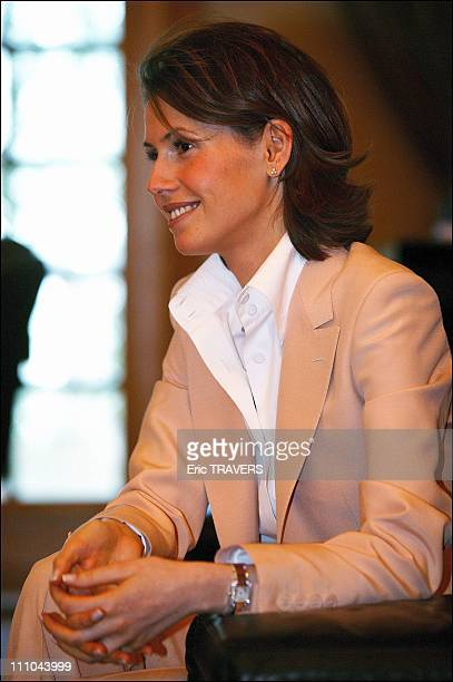 Asma wife of President Bachar Al Assad in Damas Syria on March 22 2004