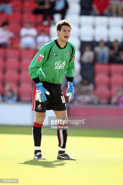 Asmir Begovic of AFC Bournemouth in action during the Coca Cola League One Match between AFC Bournemouth and Northampton Town at The Fitness First...