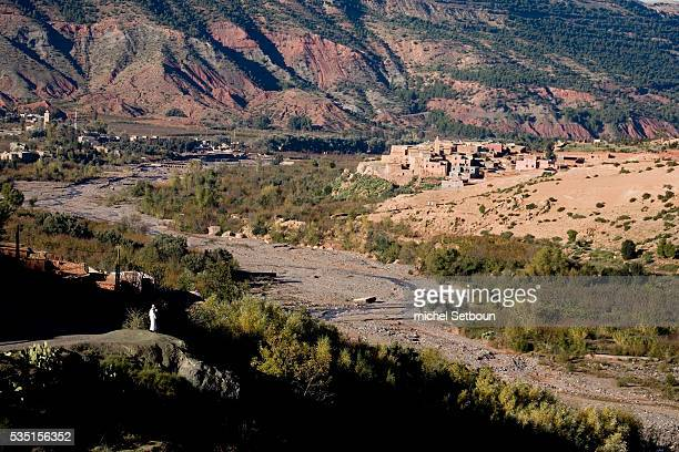 Asni a village in the Taramaout cirque at the foot of Mount Toubkal in the Atlas Mountains
