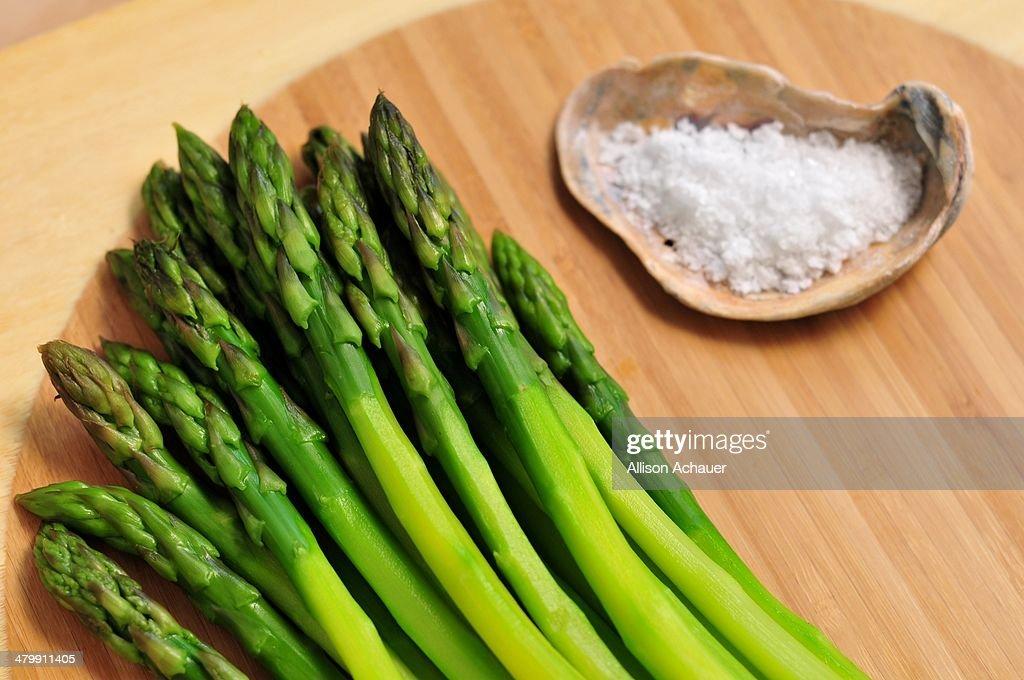 Asparagus and salt