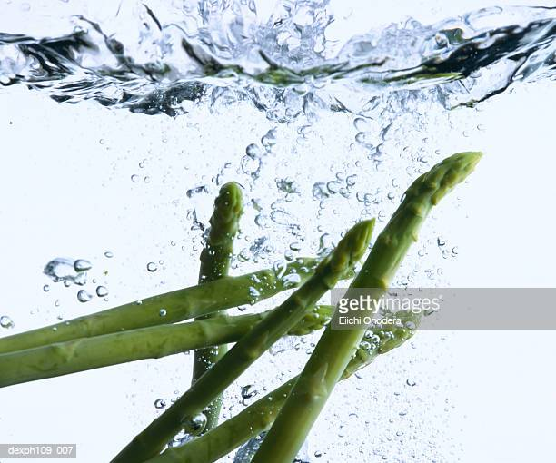 Asparagus in boiling water