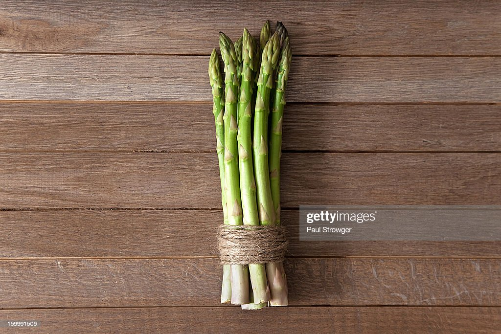 Asparagus in Twine : Stock Photo