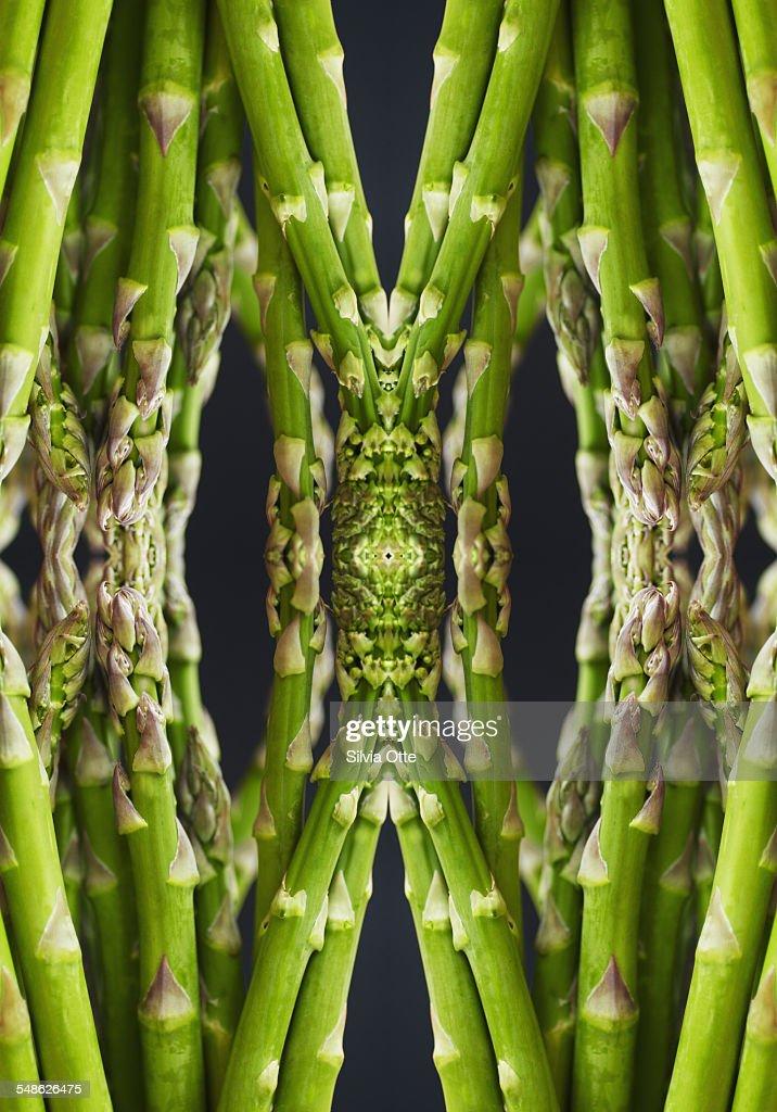 green asparagus arrangement