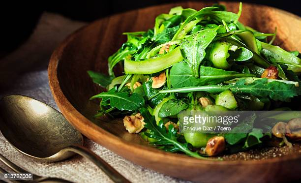 Asparagus Ribbon and Hazelnut Green Salad