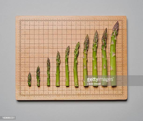 Asparagus shoots forming a graph.