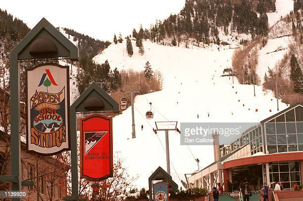 03/24/99 Aspen Colorado General View of shops Aspen Mountain Photo Dan Callister Online Usa Inc