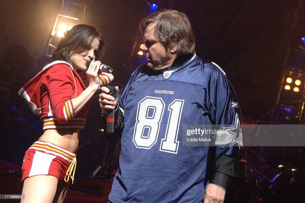 Aspen Miller and Meat Loaf during Meat Loaf's 'Bat Out of Hell' on Broadway Comes to the Palace Theater at The Palace Theater in New York City, New York, United States.