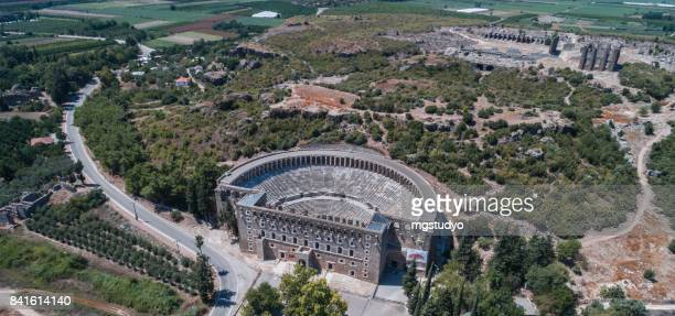 Aspendos Ancient roman theater aerial view photography