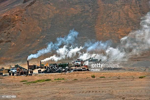 Asphalte pied sur le Plateau de Mora Ladakh Inde