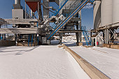 Asphalt plant in snow
