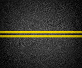 Asphalt road marking top view. It is stitched from two images and it has native resolution.