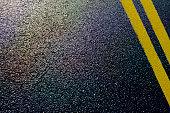 asphalt detail of road