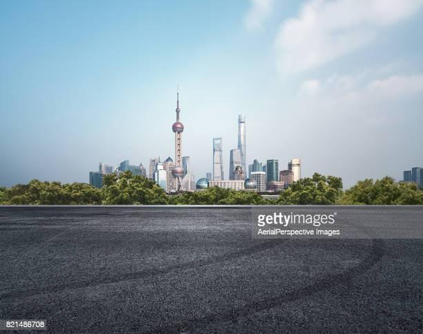 Asphalt Road, Shanghai, China
