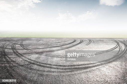 asphalt stage wide open : Stock Photo