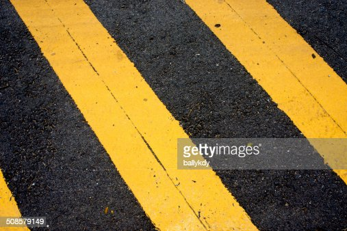 Asphaltic concrete road background and traffic sign : Stockfoto
