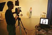 Aspiring model and actress Petra Louzilova auditions during a casting for a TV commercial September 7 2000 in Prague Czech Republic The Czech...