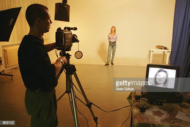 Aspiring model and actress Petra Louzilova auditions during a casting for a TV commercial September 7 2000 in Prague Czech Republic The Czech...