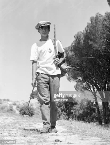 Aspiring Spanish bullfighter Sebastián Palomo Martínez as a Maletilla Andalusia Spain 1964 He was later known professionally as Palomo Linares Photo...