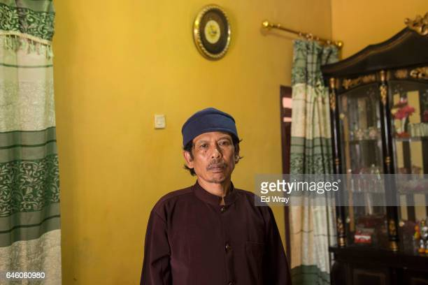 Asria the father of Siti Aisyah the Indonesian women arrested in connection with the assassination of Kim Jongnam in his home after a meeting with...