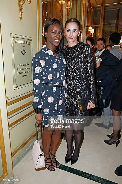 Assa Sylla and Rachida Brakni attend the evening gala for young actors named for the 2015 revelation award at the next Cesar awards in the reception...