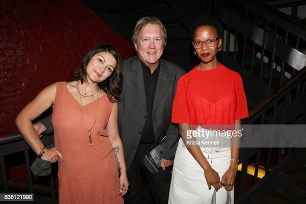 Assal Ghawami Godfrey Cheshire and Thati Peele attend Daricheh Cinema NY Features Special Guest Leila Hatami at IFC Center on August 23 2017 in New...