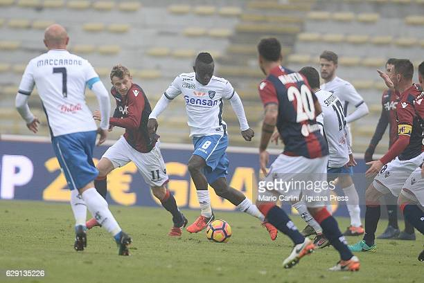 Assane Diousse of Empoli FC in action during the Serie A match between Bologna FC and Empoli FC at Stadio Renato Dall'Ara on December 11 2016 in...