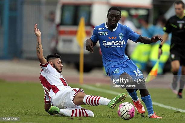 Assane Diousse of Empoli FC in action during the TIM Cup match between Empoli FC and Vicenza Calcio at Stadio Carlo Castellani on August 15 2015 in...