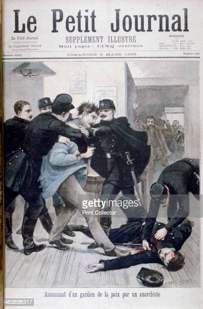 Assassination of a Policeman by an Anarchist 1895 An illustration from Le Petit Journal 3rd March 1895