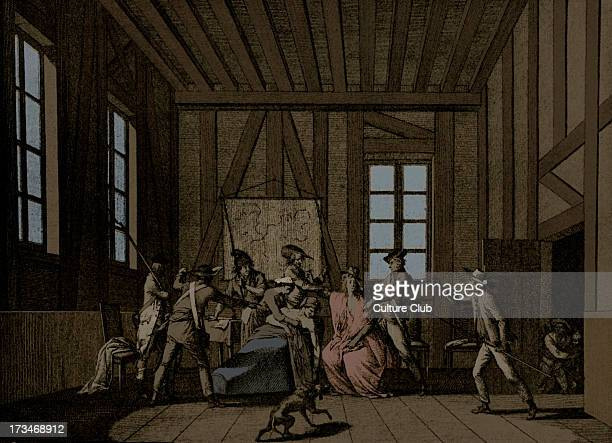 Assassination of JeanPaul Marat he was stabbed to death in his bathtub by the Girondin sympathiser Charlotte Corday Engraving by Berthault after...