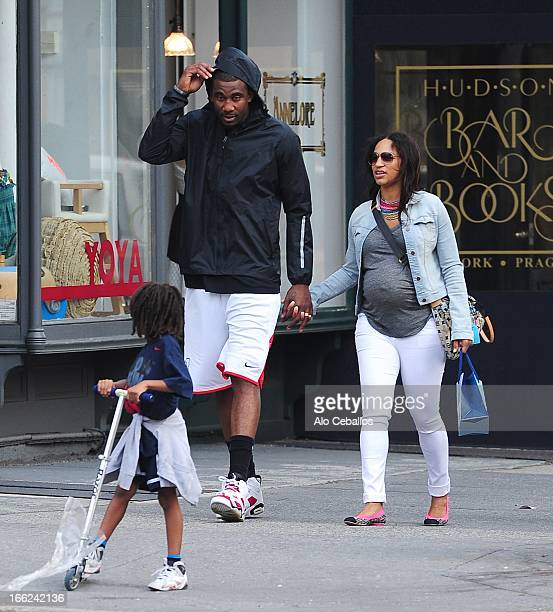 Assata Stoudemire Amar'e Stoudemire and Alexis Welch are seen in the West Village on April 10 2013 in New York City