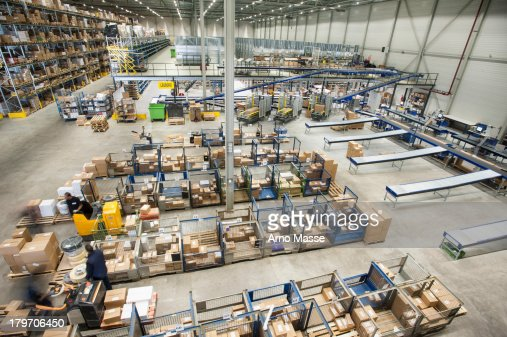Assembled orders in distribution warehouse