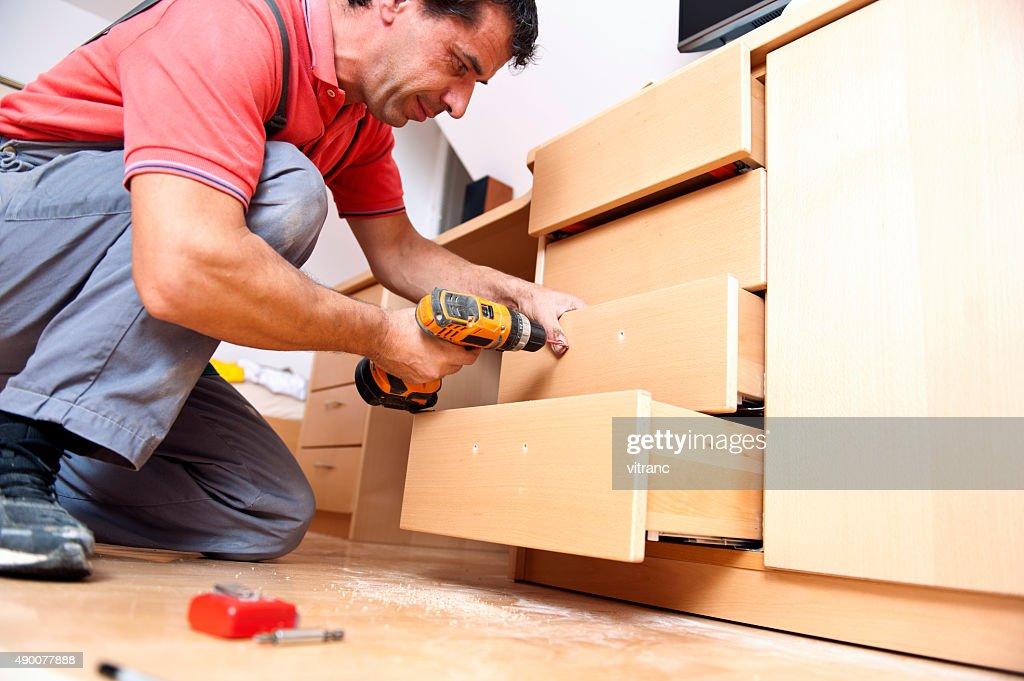 Muebles de montar : Foto de stock