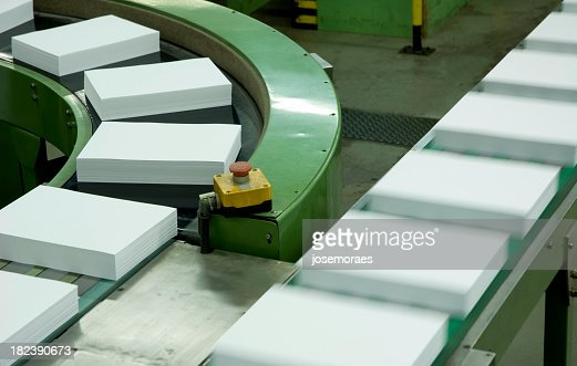 Assembly lines in a paper factory