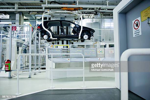 Assembly of VW vehicles Golf 7 and electric car EGolf in Volkswagen Plant on August 09 2016 in Wolfsburg Germany