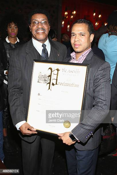Assemblyman William Scarborough presents Johnny Nunez with a Proclaimation at the Inspired In Music Event Honoring Johnny Nunez Ralph McDaniels...