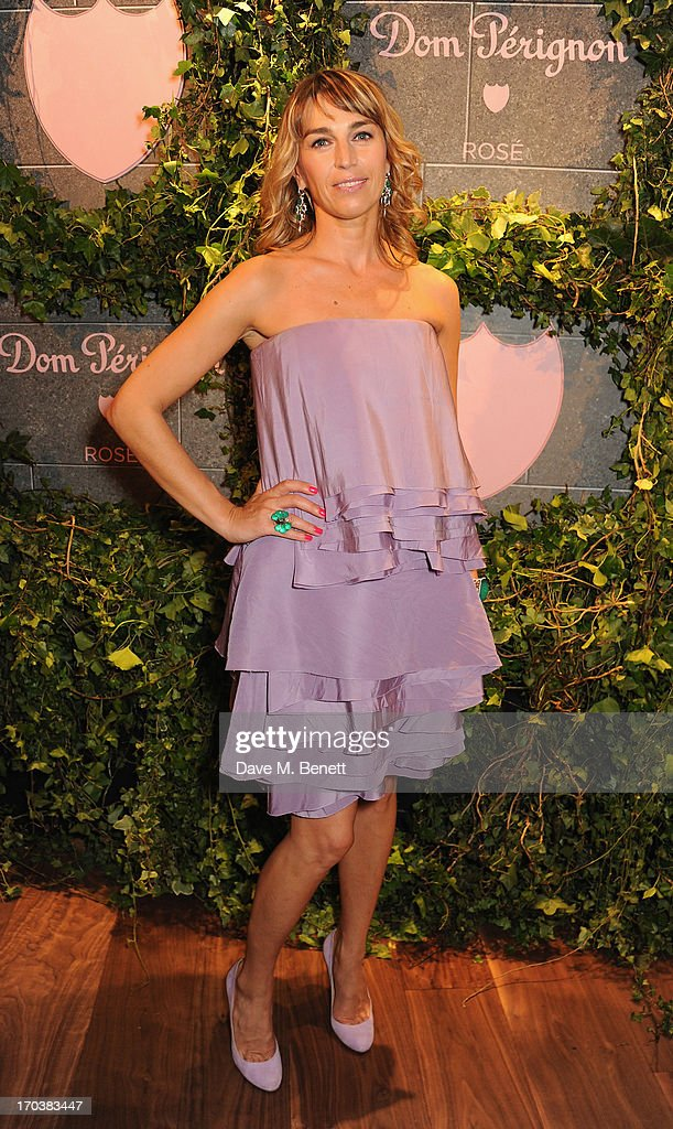 Assia Webster attends the Dom Perignon Rose 2002 Dark Jewel launch with Stephen Webster at The Connaught Hotel on June 12, 2013 in London, England.