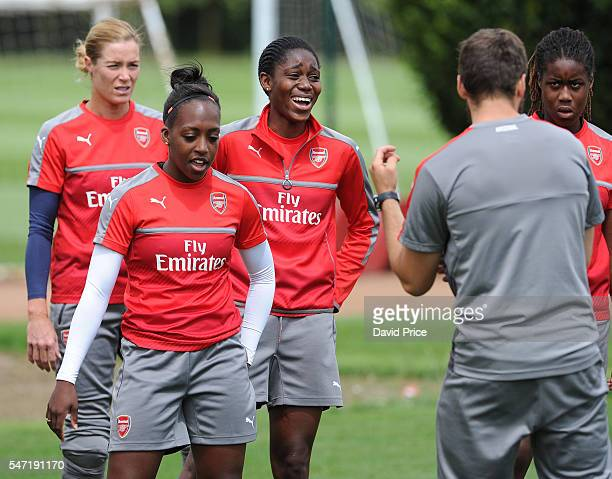 Assisat Oshaolo of Arsenal Ladies during their training session on July 13 2016 in London Colney England