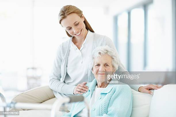 Assistance and care in her golden years