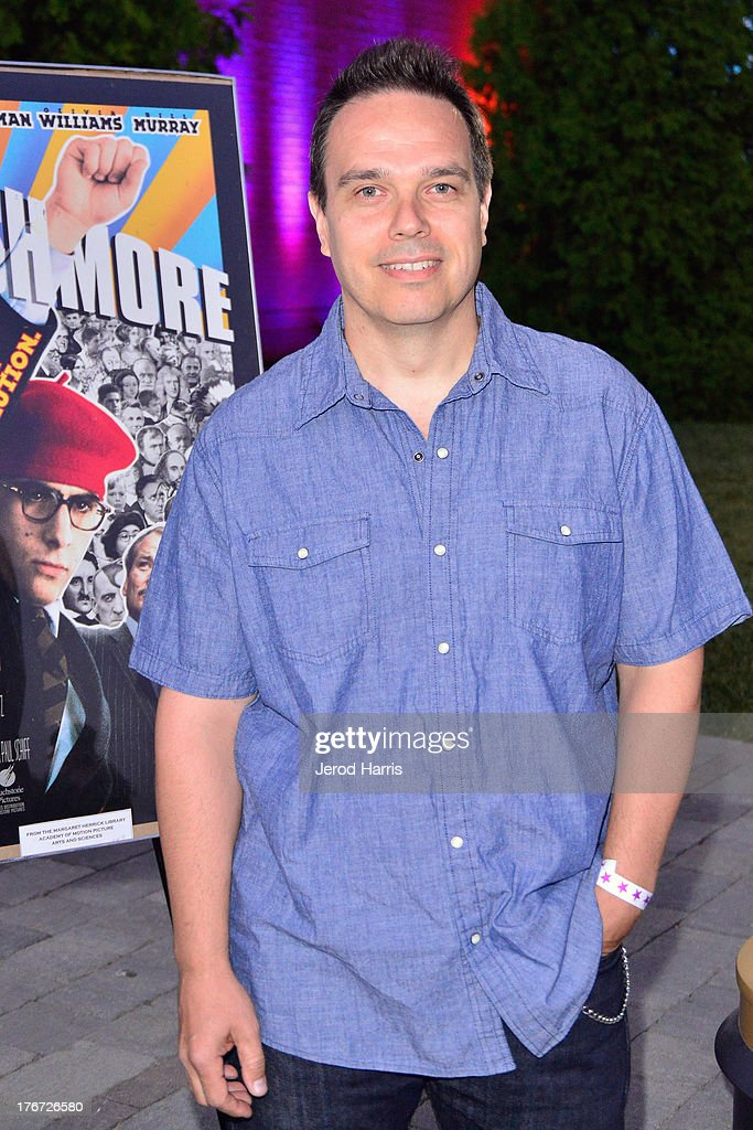 Assistant art director Austin Gorg attends 'Oscars Outdoors' summer screening series of 'Rushmore' at Oscars Outdoors on August 17, 2013 in Hollywood, California.