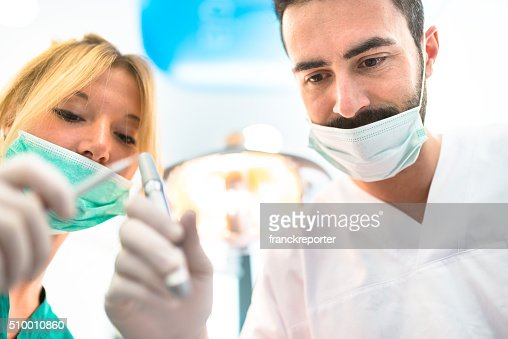 assistant at the dentist clinic