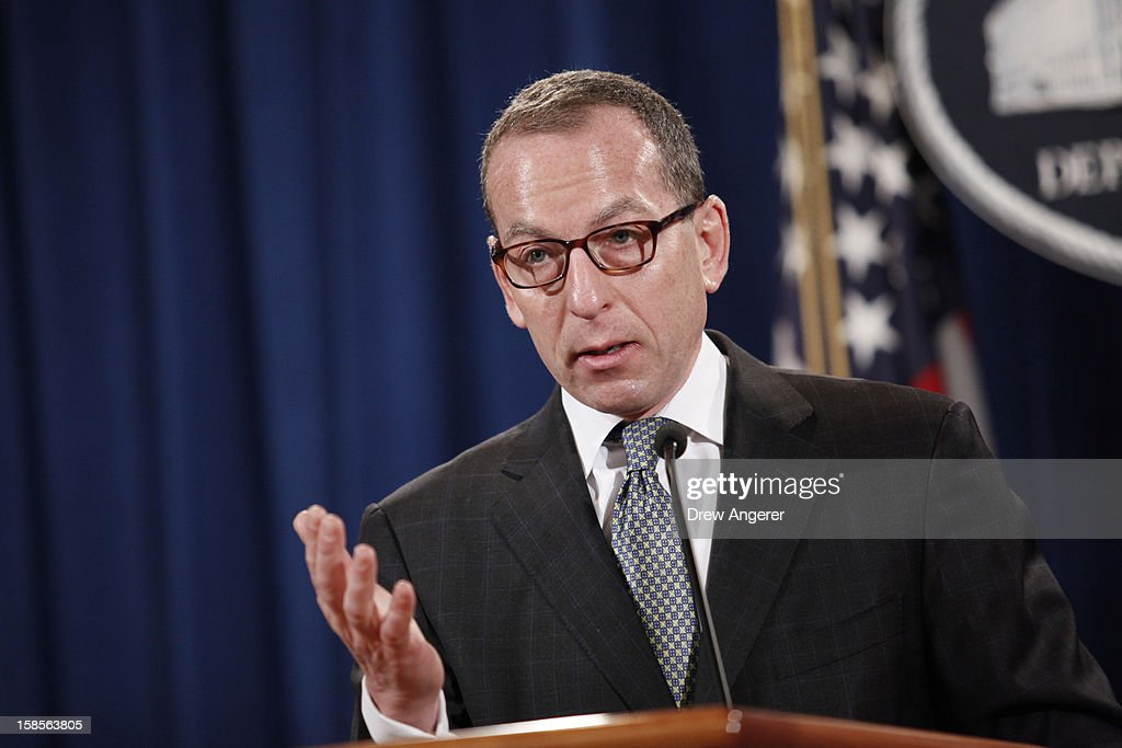 Assistant Attorney General of the Criminal Division Lanny A. Breuer speaks during a news conference at the Justice Department, on December 19, 2012 in Washington, DC. Attorney General Eric Holder announced investment bank UBS will pay 1.5 billion dollar fine to three on charges that the bank manipulated the libor interest rate.